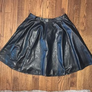 Grace elements leather circle skirt